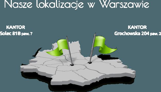 Warszawa mapa kantory